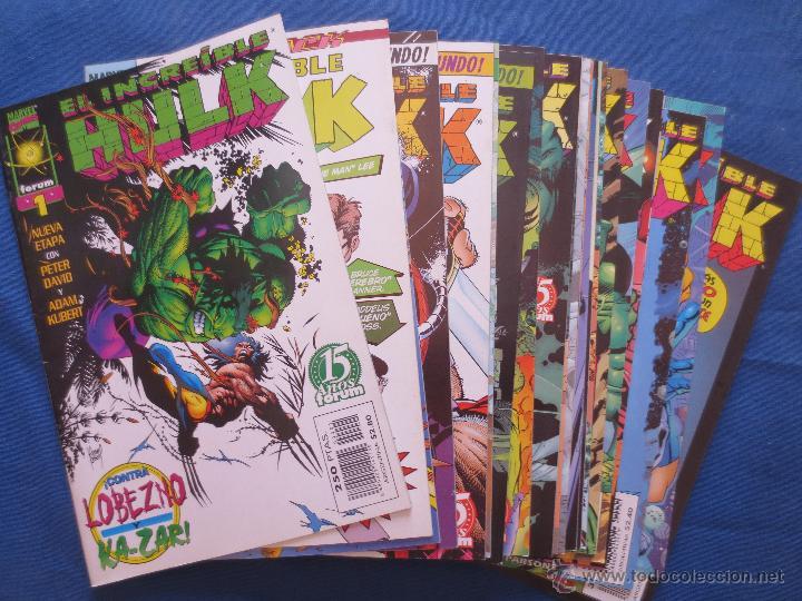 MARVEL - EL INCREÍBLE HULK DE PETER DAVID - VOL. III FORUM - COLECCIÓN COMPLETA DE 22 NÚMEROS (Tebeos y Comics - Forum - Hulk)
