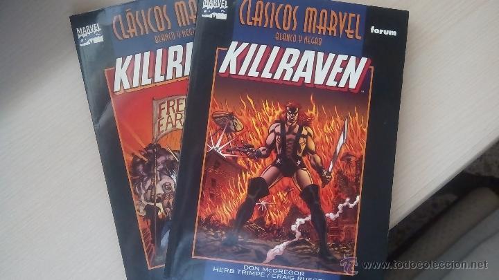 KILLRAVEN - CLASICOS BLANCO Y NEGRO - COMPLETA 2 TOMOS (Tebeos y Comics - Forum - Prestiges y Tomos)