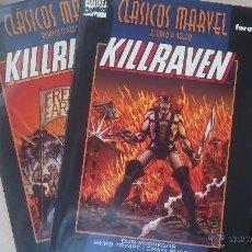 Cómics: KILLRAVEN - CLASICOS BLANCO Y NEGRO - COMPLETA 2 TOMOS. Lote 50666677
