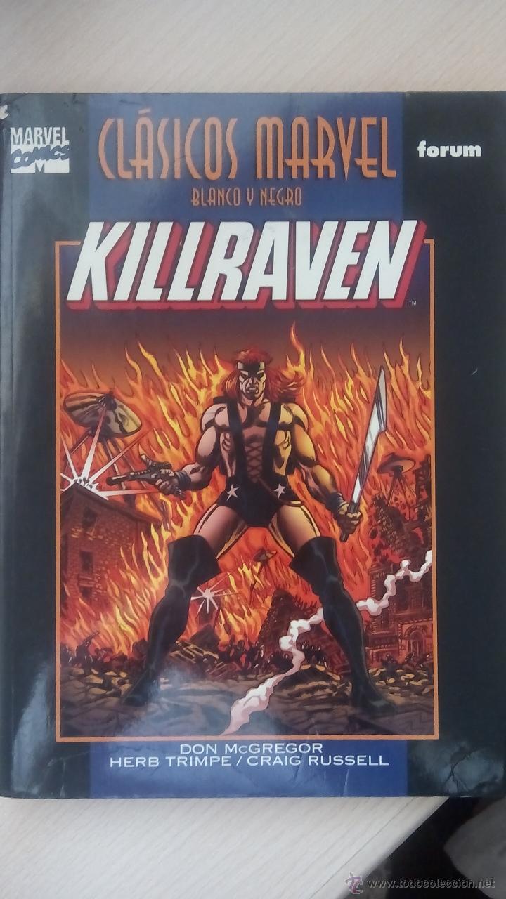 Cómics: KILLRAVEN - CLASICOS BLANCO Y NEGRO - COMPLETA 2 TOMOS - Foto 4 - 50666677