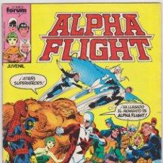 Cómics: ALPHA FLIGHT. FORUM 1985. LOTE DE 9 EJEMPLARES DEL 1 AL 9.. Lote 50761152