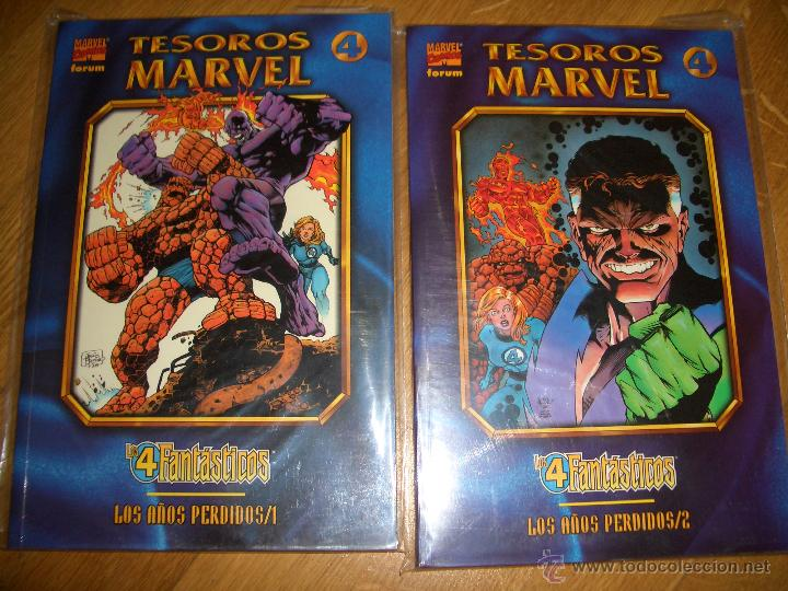 TESOROS MARVEL LOS CUATRO FANTÁSTICOS - LOS AÑOS PERDIDOS #1-2 (FORUM, 1998) (Tebeos y Comics - Forum - Prestiges y Tomos)