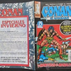 Cómics: COMIC CONAN EL BARBARO NUMERO 21. PÓSTER CENTRAL. GUION: ROY THOMAS DIBUJO: BARRY W. SMITH. Lote 51419617