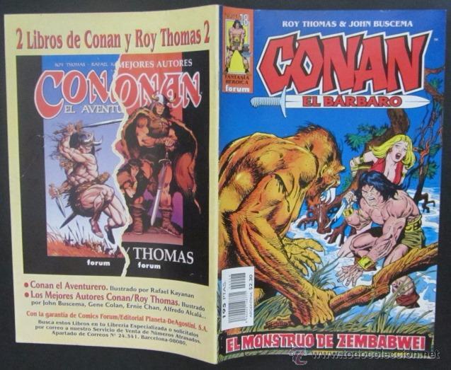 COMIC CONAN EL BARBARO NUMERO 28. PÓSTER CENTRAL. GUION: ROY THOMAS DIBUJO: JOHN BUSCEMA (Tebeos y Comics - Forum - Conan)