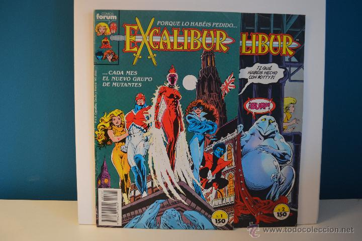 EXCALIBUR 1 Y 2 - ESTADO IMPECABLE - FORUM - MARVEL - 1989 (Tebeos y Comics - Forum - Otros Forum)