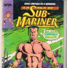 Cómics: LA SAGA DE SUB MARINER. SERIE LIMITADA. Nº 8. (DE 8) FORUM. (C/A19). Lote 51598408