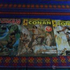 Cómics: FORUM SERIE ORO LA ESPADA SALVAJE DE CONAN Nº 1 Y SUPER CONAN NºS 1 Y 3. 1ª PRIMERA ED. 1982.. Lote 52289906