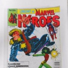 Cómics: LONGSHOT EN MARVEL HEROES. NUMEROS 16, 17, 18, 19, 20. COMICS FORUM. RETAPADO. TDKC12. Lote 52507510