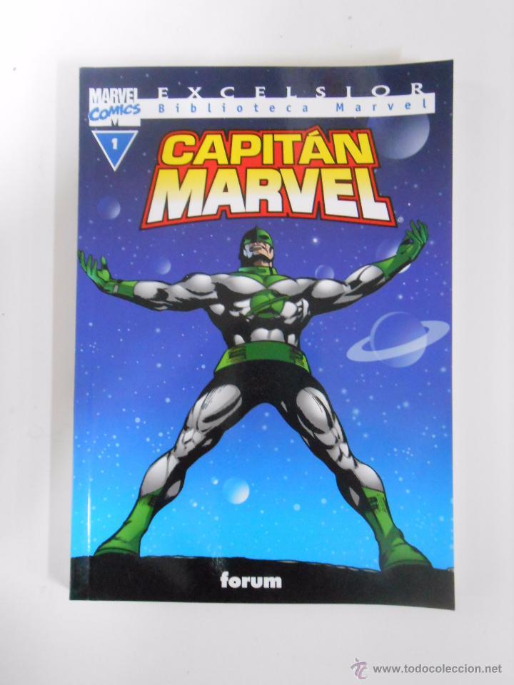 BIBLIOTECA MARVEL EXCELSIOR Nº 1. CAPITAN MARVEL. COMICS. FORUM. TDKC13 (Tebeos y Comics - Forum - Otros Forum)