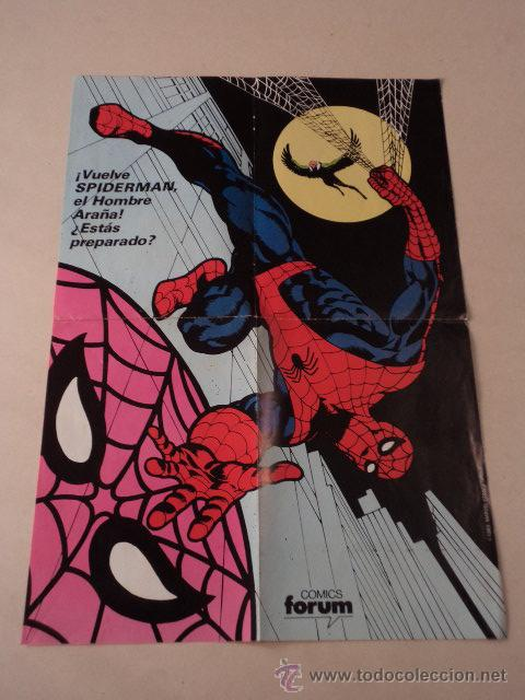 CARTEL VUELVE SPIDERMAN - COMICS FORUM - AÑO 1983 (Tebeos y Comics - Forum - Spiderman)
