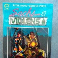 Cómics: COMICS SACHS VIOLENS / PETER DAVID - GEORGE PÉREZ / FORUM- EPIC COMICS, 1994 HISTORIA COMPLETA NUEVO. Lote 52707167