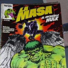 Cómics: LA MASA VOL. I - NÚMERO 6 - FORUM (VOL. 1) HULK. Lote 52854083
