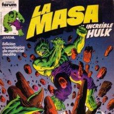 Cómics: LA MASA VOL. I - NÚMERO 7 - FORUM (VOL. 1) HULK. Lote 52854283