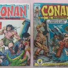 Cómics: CONAN EL BARBARO NÚMEROS 1 Y 2 FORUM AÑO 1983. Lote 52926402
