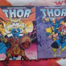 Comics: THOR, LA SAGA DE SURTUR , COLECCIÓN COMPLETA, 2 EJEMPLARES / WALT SIMONSON -ED. FORUM. Lote 155608285