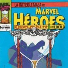Cómics: MARVEL HEROES 69 FORUM. LA MASA: CUENTA ATRAS. HULK.. Lote 53248431