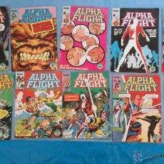 Cómics: LOTE 10 COMICS ALPHA FLIGHT -NºS 6,7,8,9,10,11,12,13,14 Y 15 -1985. Lote 53285989