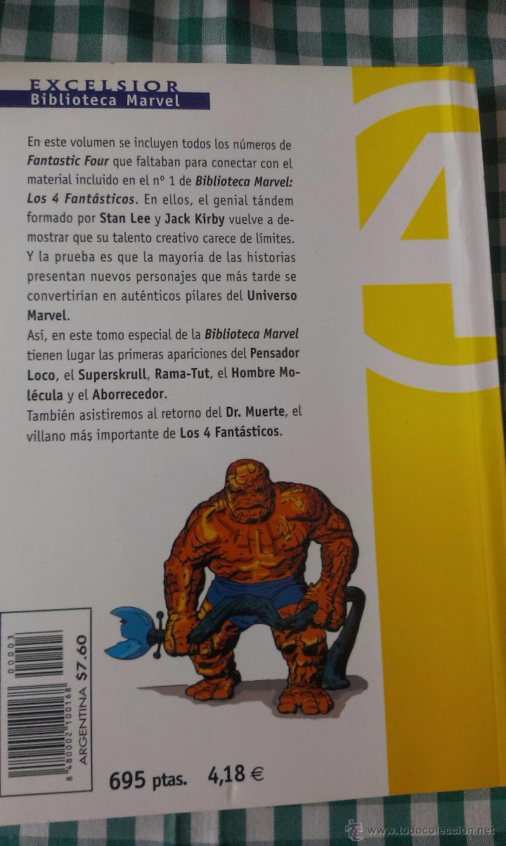 Cómics: BIBLIOTECA MARVEL LOS 4 FANTASTICOS, TOMO 03, EDITORIAL PLANETA DE AGOSTINI, BLANCO Y NEGRO - Foto 2 - 53521142