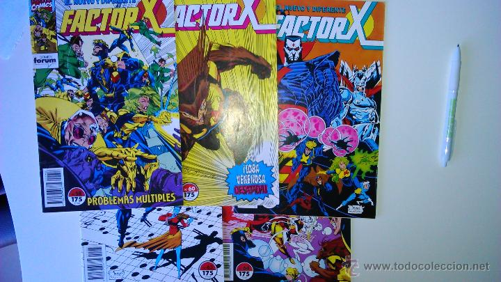 LOTE DE 5 COMICS FACTOR X DE FORUM Nº 58 60 62 63 64 (Tebeos y Comics - Forum - Factor X)
