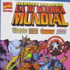 Cómics: HEROES REBORN: LA III GUERRA MUNDIAL 4 FANTASTICOS-IRON MAN-VENGADORES Y CAPITAN AMERICA. Lote 53840785