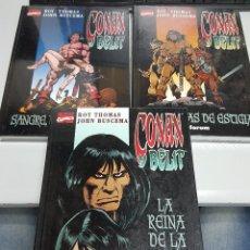 Cómics: CONAN Y BELIT ¡ COMPLETA 3 TOMOS ! ROY THOMAS - JOHN BUSCEMA / FORUM. Lote 84099515