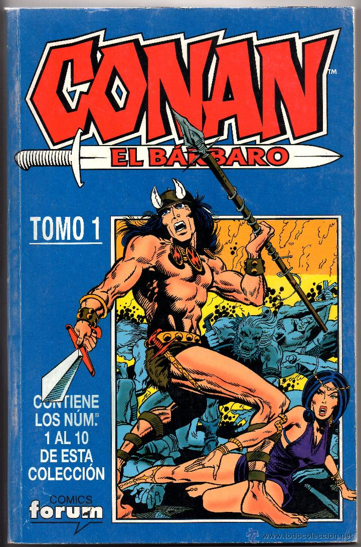 CONAN EL BARBARO TOMO 1 . FORUM 2001 (CONTIENE LOS NUMEROS 1 AL 10) (Tebeos y Comics - Forum - Conan)