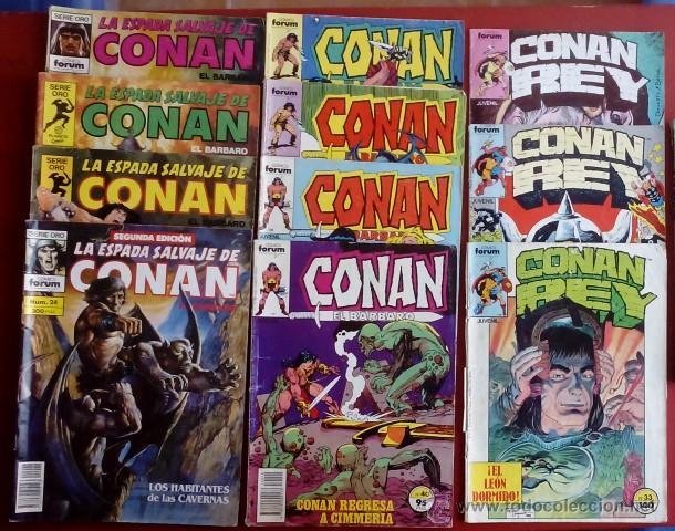 CONAN REY - LA ESPADA SALVAJE - EL BÁRBARO (LOTE DE 11 NÚMS) - FÓRUM 85-92 (Tebeos y Comics - Forum - Conan)