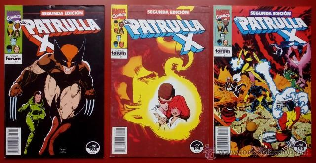 LA PATRULLA-X (2ª EDICIÓN) VOL.1 Nº 26, 27 Y 28 -(LOTE DE 3 NÚMS) - FÓRUM (Tebeos y Comics - Forum - Silver Surfer)