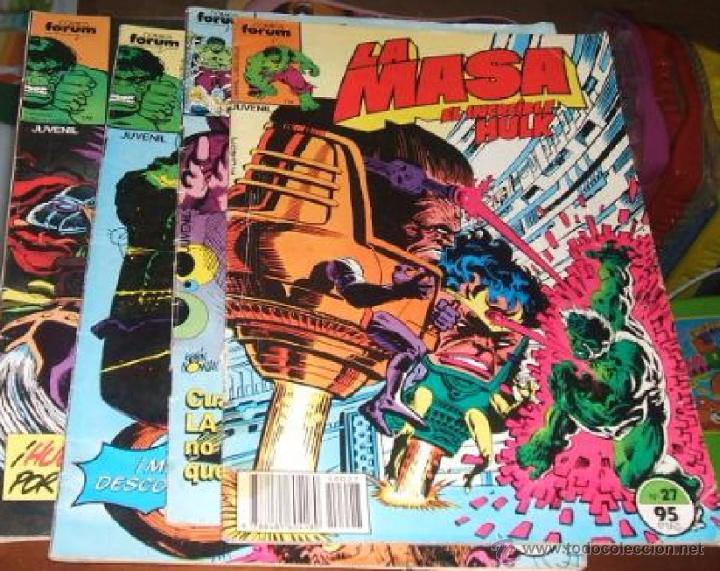 COMIC FORUM LA MASA 4 NUMEROS 27 , 35 , 39 Y 42 --- (REF M2 E3) (Tebeos y Comics - Forum - Hulk)