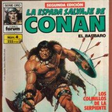 Cómics: COMIC . LA ESPADA SALVAJE DE CONAN .Nº 4 SEGUNDA EDICION VER FOTO QUE NO TE FALTE EN TU COLECCION. Lote 54530648