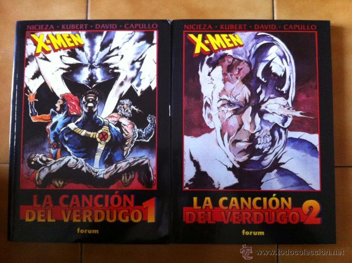 OBRAS MAESTRAS FORUM 20 Y 21 – X-MEN – LA CANCIÓN DEL VERDUGO – 2 TOMOS, COMPLETA (Tebeos y Comics - Forum - Prestiges y Tomos)