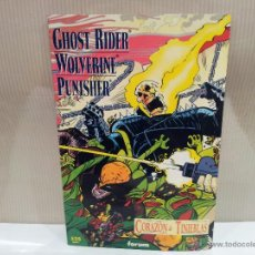 Cómics: GHOST RIDER WOLVERINE PUNISHER CORAZON DE TINIEBLAS BUENISIMO ESTADO. Lote 54802646