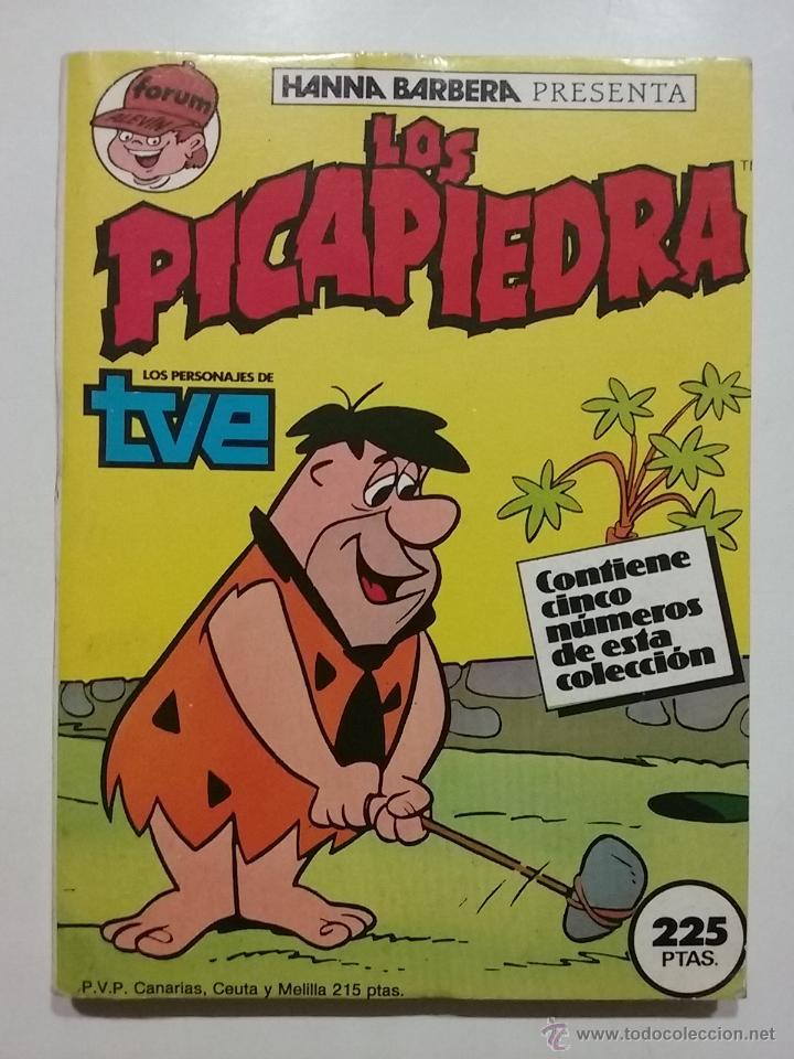 RETAPADO LOS PICAPIEDRA NUMEROS 1 2 3 4 Y 5 - FÓRUM - HANNA BARBERA - 1986 (Tebeos y Comics - Forum - Retapados)