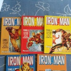 Cómics: IRON MAN DE KURT BUSIEK Y SEAN CHEN COLECCION COMPLETA DE 5 RETAPADOS FORUM. Lote 55168039