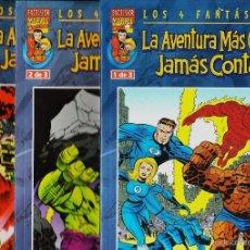 Cómics: LA AVENTURA MÁS GRANDE JAMÁS CONTADA (SERIE COMPLETA, 3 NºS). Lote 55396172