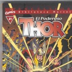 Cómics: BIBLIOTECA MARVEL THOR Nº 21 - PLANETA - MUY BUEN ESTADO. Lote 55680439