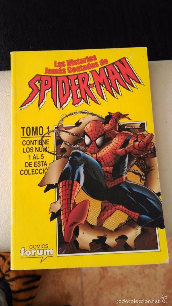 LAS HISTORIAS JAMAS CONTADAS DE SPIDERMAN. RETAPADO CON LOS NUMEROS 1 A 5 FORUM. (Tebeos y Comics - Forum - Spiderman)