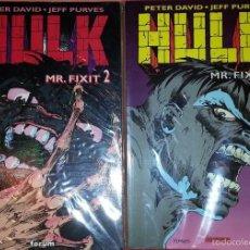 Cómics: HULK: MR. FIXIT 01 Y 02. PETER DAVID. FORUM. COLECCION COMPLETA 2 TOMOS. LA MASA.. Lote 56272837