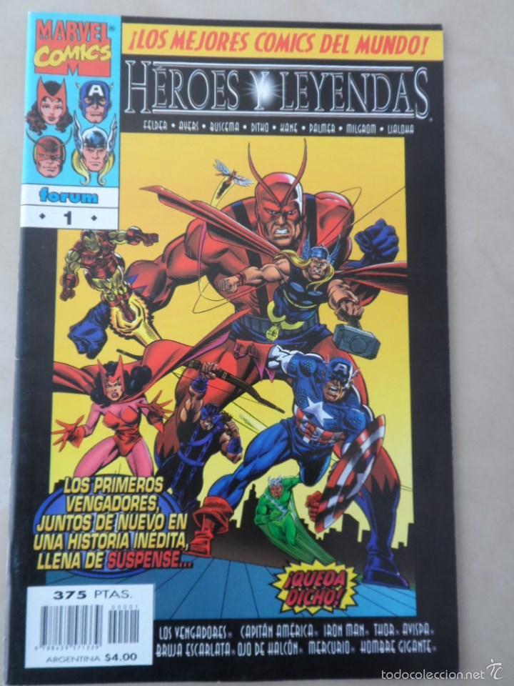 HÉROES Y LEYENDAS COMPLETA 2 NROS - POSIBLE ENVÍO GRATIS-FORUM- VENGADORES PATRULLA-X DAREDEVIL... (Tebeos y Comics - Forum - Vengadores)