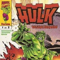 Cómics: HULK DESENCADENADO 1 (GREENBERG / LEONARDI / GREEN) - FORUM. Lote 56739419