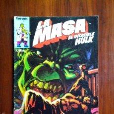 Cómics: COMICS FORUM, LA MASA EL INCREIBLE HULK, N° 31, ( JUVENIL ). Lote 56748099