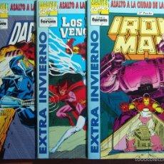 Cómics: SAGA , VOL 1 DE FORUM COMPLETA 3 COMICS NUEVOS VENGADORES, IRON MAN, DARKHAWK. Lote 56945415