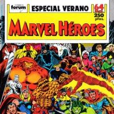 Cómics: MARVEL HEROES VOLUMEN 1. ESPECIAL VERANO 1989.FÓRUM.CONTIENDA DE CAMPEONES.. Lote 57137184