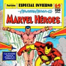 Cómics: MARVEL HÉROES VOLUMEN 1.ESPECIAL INVIERNO 1989. ATLANTIS ATACA.FÓRUM.. Lote 57137464
