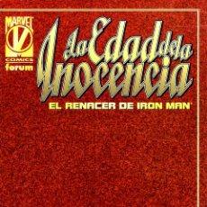 Cómics: IRON MAN LA EDAD DE LA INOCENCIA: EL RENACER DE IRON MAN. FÓRUM.PERFECTO.. Lote 51570524