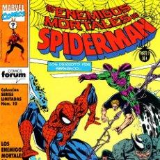Cómics: SERIES LIMITADAS VOLUMEN 1.FORUM.LOS ENEMIGOS MORTALES DE SPIDERMAN.PERFECTOS.. Lote 48692347