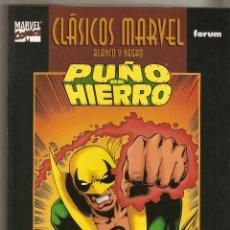 Cómics: CLASICOS MARVEL BLANCO Y NEGRO PUÑO DE HIERRO 1 CLAREMONT Y BYRNE FORUM. Lote 57243836