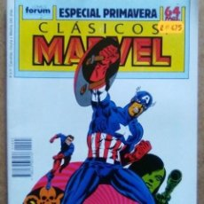 Fumetti: CLASICOS MARVEL ESPECIAL PRIMAVERA 1989 - FORUM - IMPECABLE. Lote 69289847