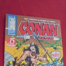 Cómics: CONAN EL BARBARO. ROY THOMAS. Nº 1. FORUM.. Lote 158789565