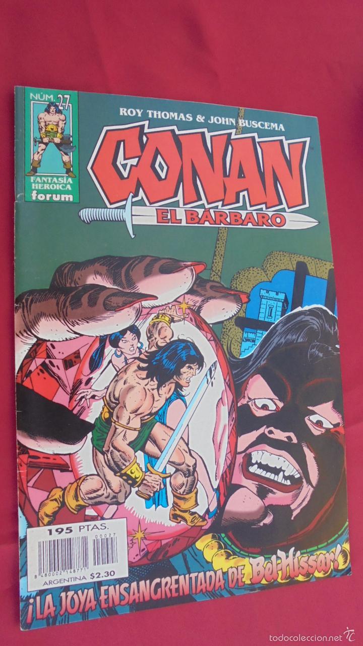 CONAN EL BARBARO. ROY THOMAS. Nº 27. FORUM. (Tebeos y Comics - Forum - Conan)